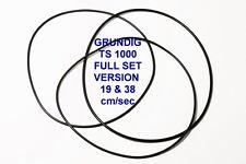 CORREAS SET GRUNDIG TS 1000 19 & 38 CM/SEC VERS. MAGNETOFONO EXTRA FUERTE TS1000
