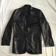 RARE VINTAGE GUCCI BY TOM FORD MEN FITTED LEATHER JACKET BLAZER EU 50 US 40 M