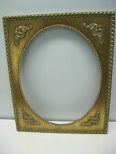 Rare Gold Ornate Wooden Picture Frame 11x 14'' with oval opening