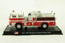 Seagrave K-type Pumper -1971 US Fire Truck Diecast Model 1:64 No 29