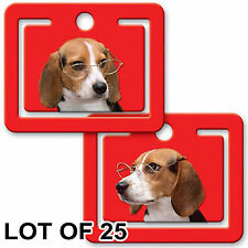 Beagle Dog  Bookmark Page Clip Lenticular Flip Effect LOT OF 25 #PM01-246-S25#