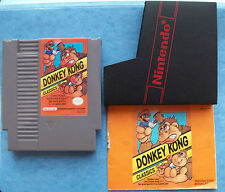 DONKY KONG CLASSICS NINTENDO NES 1988 w/MANUAL & SLEEVE TESTED ACTUAL PICTURE