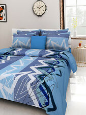 Homefabs 100% Cotton Double Bed Sheet with 2 Pillow Covers (DBS106)