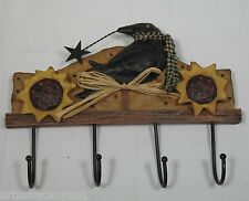 Crow Wall Hook Coynes Folk Creek Ceramic & Wood FC1017 New in Box