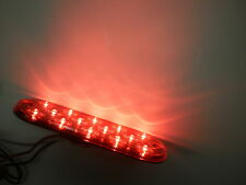 """2-Maxxima Low Profile Red LED 6"""" Oval Stop.Brake Tail Light Trailer Jeep Surface"""
