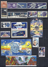 US Space Lot/Set #1 - Gemini, Apollo, Hubble, Columbia, Armstrong, Rocket - MNH*