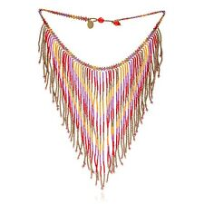 Azuni London NEW! Dreamcatcher Red & Orange Beaded Fantail Necklace