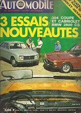 L'AUTOMOBILE 289 1970 PEUGEOT 304 COUPE CABRIOLET BMW 2800 CS GP MONACO MONZA