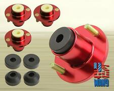 x4 Red Aluminum Coilover Strut Shocks Mount Extended Top Hat for Civic Crx Ef