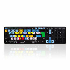 Avid Media Composer Teclado inalámbrico - 2.4 Ghz Mac & Pc Teclado por editorskeys