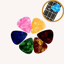 50x Acoustic Electric Guitar Celluloid Picks Plectrums Mix Thickness Multicolor