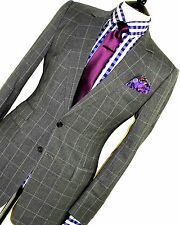 MENS LUXURIOUS CHESTER BARRIE SAVILE ROW BESPOKE 2 BOX CHECK SUIT 40R W34 X L32