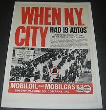 Print Ad 1937 Mobiloil MOBILGAS Fifth Ave Easter Parade N.Y. City had 19 autos