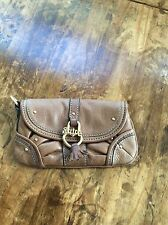womens handbags and purses/Juicy Couture Brown Leather Purselet