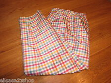 Womens women's Talbots lined silk pants 4 plaid ca23147 EUC pre-owned