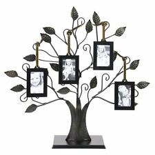 Tree Photo Frame Picture Family 4 Hanging Collage Home Decor Art Metal Gift New