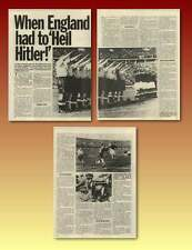 English Football Team Saluting Hitler 1938 Match Old Article