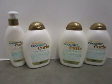 4 OGX QUENCHING COCONUT CURLS CURL CONDITIONER, SHAMPOO & STYLING MILK MM 6453
