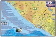 Orange County Surfing Map Laminated Surfing Guide Poster by Franko Maps