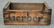 Antique Vintage Gerber Baby Wood Box Crate Nursery Shabby Chic Photography Prop