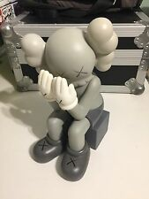 Kaws Original Fake 'Passing Through' Grey Companion Replica Figure 37cm No Box