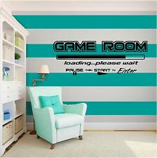Game Room Vinyl Wall Art quote Home Decor Decal Words & Phrases Matte Black