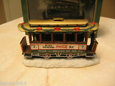 COCA COLA TOWN SQUARE ACCESSORY - OLD NUMBER SEVEN TROLLEY #64310 NIB 1992