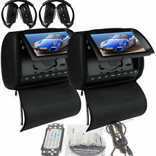 "Deluxe 9"" Headrest Car Stereo DVD Player +Zipper Screen Cover Games+IR Headphone"