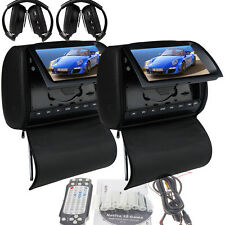 "Deluxe 9"" Headrest Car Stereo DVD Player +Zipper Screen Cover Games+IR Head"