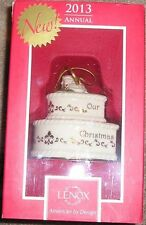 NEW Lenox 2013 First Christmas Together Wedding Cake Ornament Holiday NEW NIB