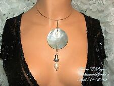 Arturo E.Reyna  NATURAL PEARL SEASHELL MOTHER OF PEARL PENDANT CHOKER/NECKLACE
