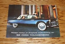 1956 Ford Thunderbird Foldout Sales Brochure 56