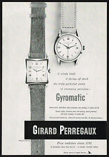 1950's Vintage Girard Perregaux Gyromatic Watch Models - Paper Photo Print AD