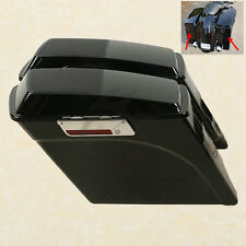 "5"" Stretched Extended Saddlebags Speaker Lid For Harley Road Electra Glide FLTR"