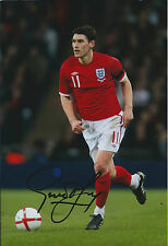 Gareth BARRY SIGNED Autograph 12x8 Photo AFTAL COA England World Cup RIO 2014