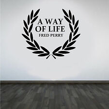 Fred Perry Designer Wall Art Sticker/Decal