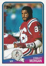 Stanley Morgan Autograph On A 1988 Topps - New England Patriots  - Free Ship