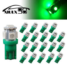 20X NEW Vivid Green T10 168 194 5050 5 SMD LED Wedge Map Interior License Light