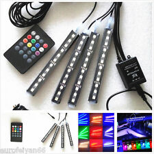 4in1 Multi Color 12LED Car Interior Atmosphere Lights Decoration Lamps & Remote