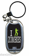 Everyone Loves Walking Dead & They Will Love Your ZOMBIE Key Ring wLight - NEW