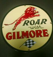 GILMORE Oil Gas Porcelain Advertising sign