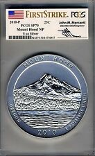 2010-P POP OF 42 FIRST STRIKE MERCANTI America ATB 5 oz MOUNT HOOD PCGS SP70