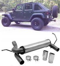 Dynomax Super Turbo Muffler Cat-Back Dual System For 2007-2015 Jeep Wrangler JK