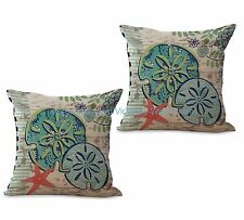 US SELLER- set of 2 cheap pillow ocean animal sea life starfish cushion cover