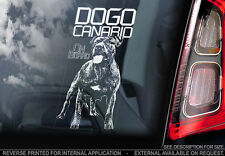 Dogo Canario - Car Window Sticker - Dog Sign -V02