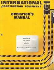INTERNATIONAL S-11A  PAYLOGGER OPERATOR'S  MANUAL