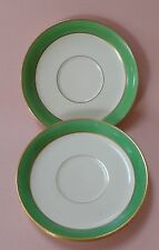 JOHNSON BROTHER BROS China ANTIQUE Dinnerware Set PAREEK GREEN 3 Teacup SAUCERS