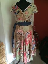 BNWT Joe Browns Beautiful Vintage Floral Tea Dress Size 10 Rare!