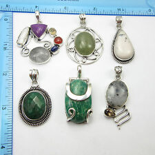 FREE INTERNATIONAL SHIPPING, 925 Sterling Silver Plated ! 6pc Pendant WHOLESALE