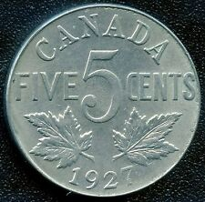 1927 Canada 5 Cent Coin